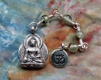 The Loving Kindness Mala in Silver and Prehnite. A findraiser for Alzheimers Research