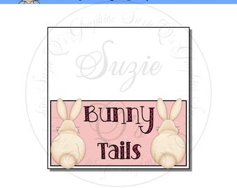 Bunny Tails Topper - Digital Printable - Immediate Download