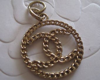One Gold Color Chain Handbag Pulling Tag or Zipper Replacement, 25mm