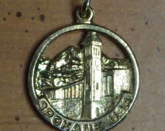 Vintage Spokane Washington Sterling Silver Bracelet Charm
