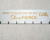 Though She be but Little She is Fierce Sports Medal and Ribbon Display Board