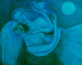 The Lovers in Blue, Original painting