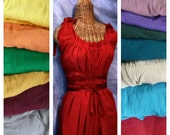 Red Dress All Sizes Corset Short, Tea Length or Maxi Ren Faire, Many Colors Custom Renaissance Fashion Riding Hood Gauze Romantic