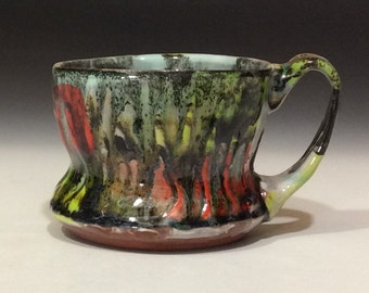 Flame mug with chatter texture