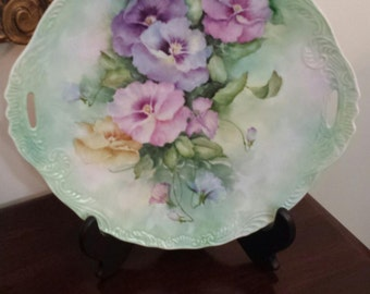 Beautiful Handpainted Fine Porcelain Platter