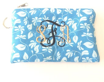 Monogram Cosmetic Pouch, Personalized bag,  Makeup pouch, makeup bag, gift idea, gift for woman