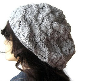 Hand Knit Hat, Lace Slouchy Hat, The Beverly Hat, Vegan Knits, Womens Accessories, Fashion Hat, Fall Fashion Knits, Knit Slouchy Hat