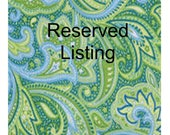 Reserved for Lacee - Custom Order - Please do not buy unless you are her