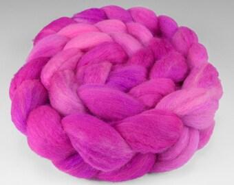 Polwarth Silk Top, Handpainted, 4 oz., Wild Rose