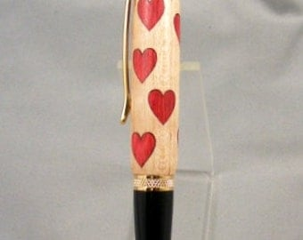 Heart Inlay Twist Pen