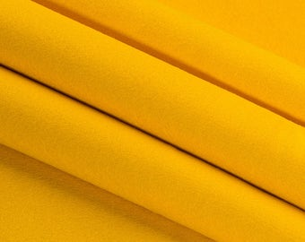 "CLEARANCE! Dark Yellow Wool Craft Felt by the Yard - 100% Wool, 1.2mm Thick, 63"" Wide, Limited Stock Available"