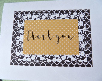 Set of 4 cards, Thank You Cards. Bridal Shower Thank You Cards. Baby Shower Thank You Cards. Wedding Thank You Cards, bync