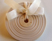 Vintage French 1930's-40's Woven Ribbon -Milliners Stock- 5/8 inch Champagne