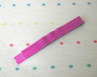 """Neon Purple Hair Pins, Metal Hair Clips, Bobby Pins, Medium Sized, 2 1/2"""" Long (12)"""