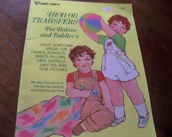 1985 iron on transfers 8 pages  for babies and toddlers etc
