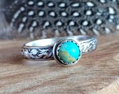 Stackable Turquoise Ring - Blue and Silver - Turquoise Ring - Turquoise ring for Women