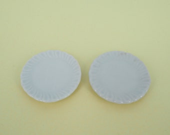 Round Patterned white plate
