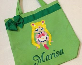 Personalized Tote Bag, Personalized Tote, Sailor Moon Tote Bag, Sailor Moon Gift, Personalized Sailor Moon,  Sailor Moon Anime, Cartoon