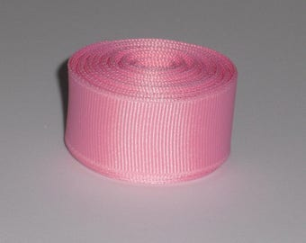 Pink 7/8 inch Solid Grosgrain Ribbon 10 yards