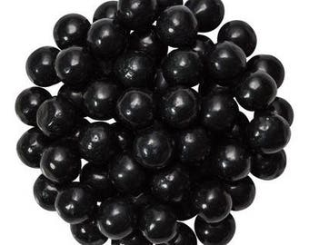 8oz Black Shimmery Pearl Candy Sprinkles - Sequin Quins