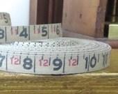 Vintage tape measure, 2 yards measurement tape, Antique tape measure, 2 yards of old tape measure, Vintage number tape, Woven tape measure