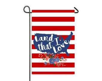 Land I Love Garden Flag
