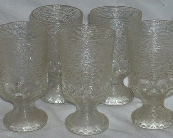 Mid Century Glasses Water Goblets 5