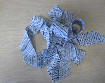 Blue Crypton Fabric Bias Strip,Priced for 1 Yard,Ready for Your Cording.Pillows,Bags,Crafters,Ready to Ship,You Pay Shipping.
