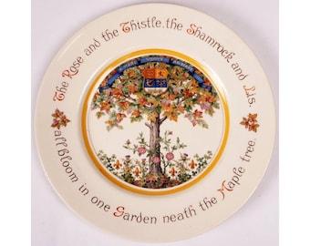 Vintage Royal Doulton Commemorative Plate - Canadian Heritage Tree - CANADA History