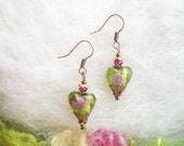 RESERVE LISTING Two Pair Heart Earrings with Additional Bead