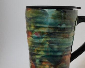 handled travel mug - Handled Cup Holder Base Travel Mug