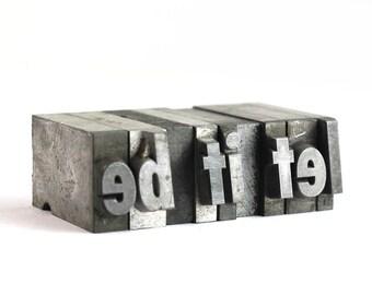 LET IT BE - 36pt Vintage Metal Letterpress