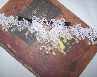 butterfly lace headband