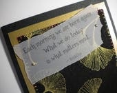 WHAT MATTERS MOST ~ Fabric greeting card with quote by Buddha