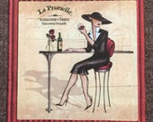 PN-168. In the restaurant Price is for one napkin Unusual Paper Napkins Collectibles Scrapbooking Napkins for decoupage