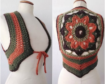 Crochet  shrug, festival,tribal style, bohemian,Gypsy,woodland,handmade , ready to ship