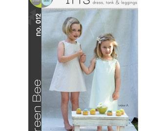Green Bee Patterns - Iris Dress, Tank & Leggings Pattern (paper) no. 12