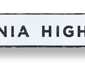 Virginia Highland block letters neighborhood sign 37 x 7