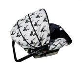 BLACK FRIDAY Buck Forest Black Infant Car Seat Cover
