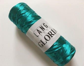 Lang Gloria Ribbon Yarn #73 Jade (Teal) - 50 gram 98 yards