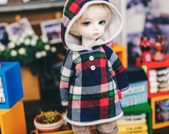 USD Fairy check Hooded-T - Red