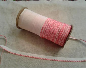 Large Roll of Vintage Scalloped Edge Cotton Trim Pink And White Combo 50 plus YARDS