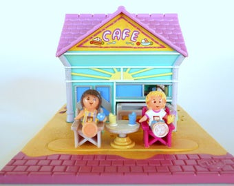 Vintage Polly Pocket Polly's Beach Cafe Complete Playset - Bluebird Toys 1993 Retro 90s Toy