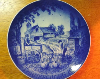 "Bareuther - Thanksgiving Plate - ""Harvest"" - 2nd in Series - Ltd. Edition - 1972"