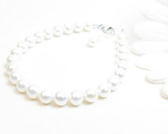 Adult Real Pearl Bracelet // Freshwater Pearl Bracelet // Real Pearl Bracelet // White Pearl Bracelet // Classic Pearl Bracelet // 6-6.5mm