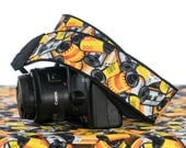 dSLR Camera Strap, 35mm Film, Yellow, Orange, Red, Black, SLR, Canon, Nikon, Camera Accessories, 6 ecc