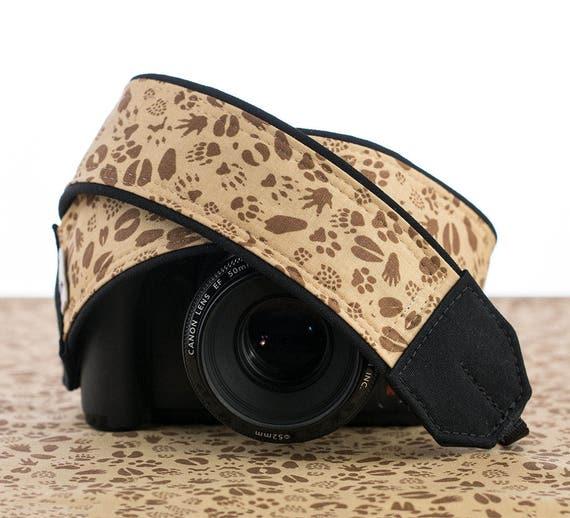 Dslr Camera Funny Quotes: Camera Strap, DSLR, Wildlife Paw Prints, Pocket