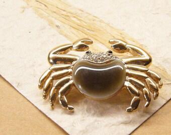 Vintage Brooch Pin, Crab Pin, Figural Pin, ANIMAL CHARITY DONATION