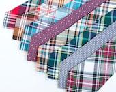 Necktie, Neckties, Mens Necktie, Neck Tie, Plaid Neckties, Groomsmen Necktie, Ties, Wedding Neckties, Holiday Ties - Fall/Winter Collection