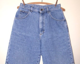 1980s lee high waist denim jean shorts